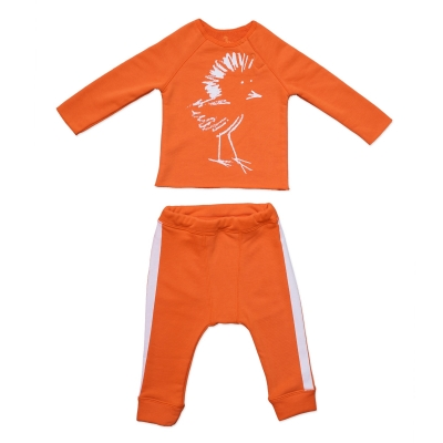 Hey birdie set orange