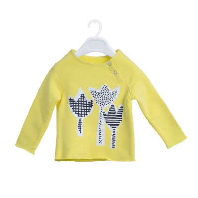 Three tulips yellow sweatshirt