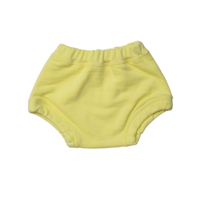Yellow terry shorts