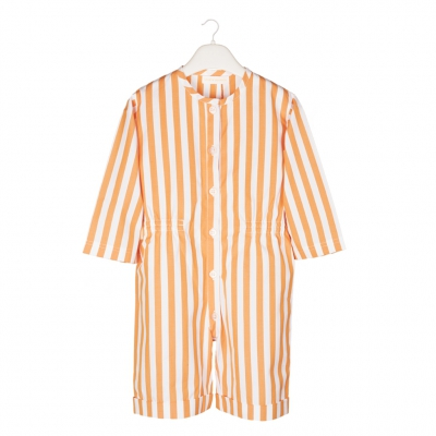 Orange striped romper