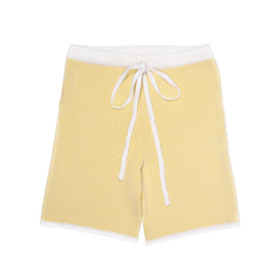 Knitted shorts yellow