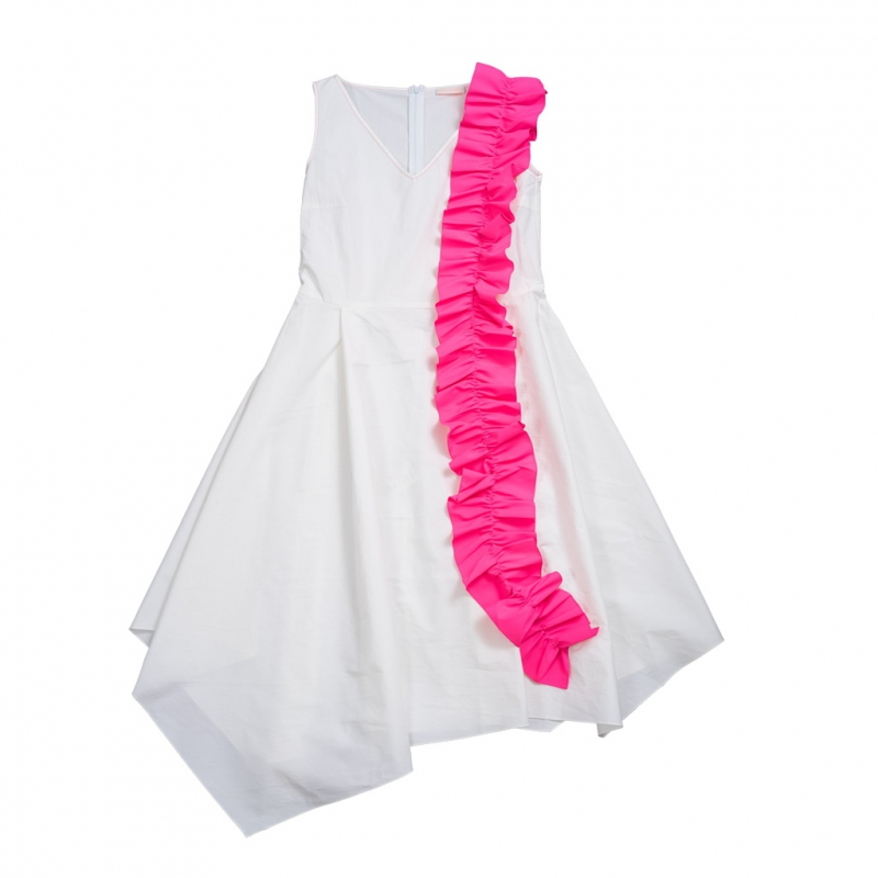 Pink ruffle dress for adult