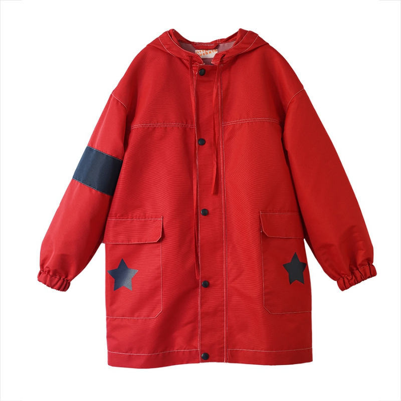 Star Raincoat in red