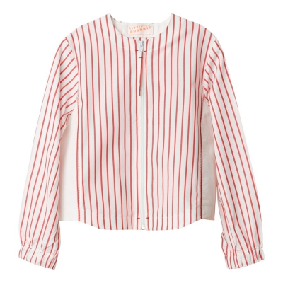 Shirt in red stripes