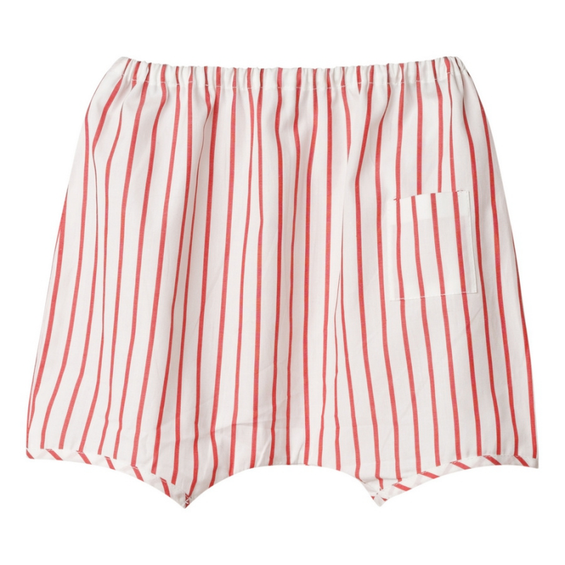 Red striped hipster shorts