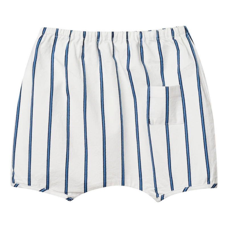 Blue striped hipster shorts