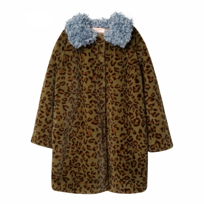 Ellie fur coat in khaki