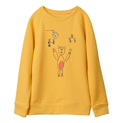 Bears and honey sweatshirt in yellow